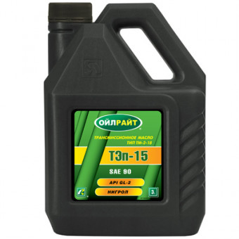 Масло ТЭП-15В 90W GL-2 (3л) OIL RIGHT