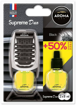 "Ароматизатор ""Aroma Car Supreme Duo"" (Black) на дефлектор"