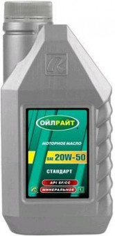 Масло OIL RIGHT Стандарт 20W50 SF/CC (1л)