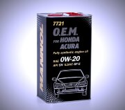 Масло Mannol O.E.M.for Honda Acura 0W20 SN (4л) МЕТАЛЛ 7721