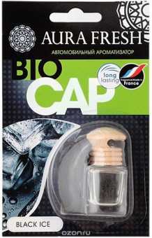 "Ароматизатор ""Aura"" FRESH BIO CAP Black Ice подвесной"