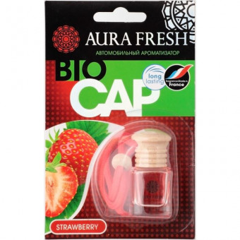 "Ароматизатор ""Aura"" FRESH BIO CAP Strawberry подвесной"