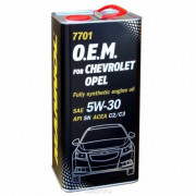 Масло Mannol O.E.M.for Chevrolet Opel 5W30 SM/CF (1л) МЕТАЛЛ