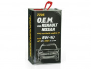 Масло Mannol O.E.M.for Renault Nissan 5W40 SN/CF (4л) МЕТАЛЛ 7705