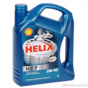 Масло Shell Helix HX7 5W40 SN/CF (4л)