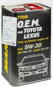 Масло Mannol O.E.M.for Toyota Lexus 5W30 SN/CF (4л) МЕТАЛЛ 7709